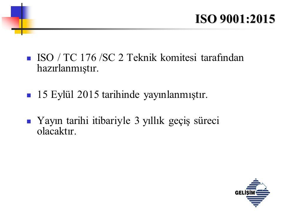 ISO 9001:2015 İçerik Önsöz Giriş 0.1 Genel 0.2 Kalite yönetimi prensipleri 0.3 Proses Yaklaşımı 0.4 Diğer yönetim sistem standartlarıyla uyumluluk 1 Kapsam 2 Atıf yapılan referanslar 3 Terimler ve tarifler
