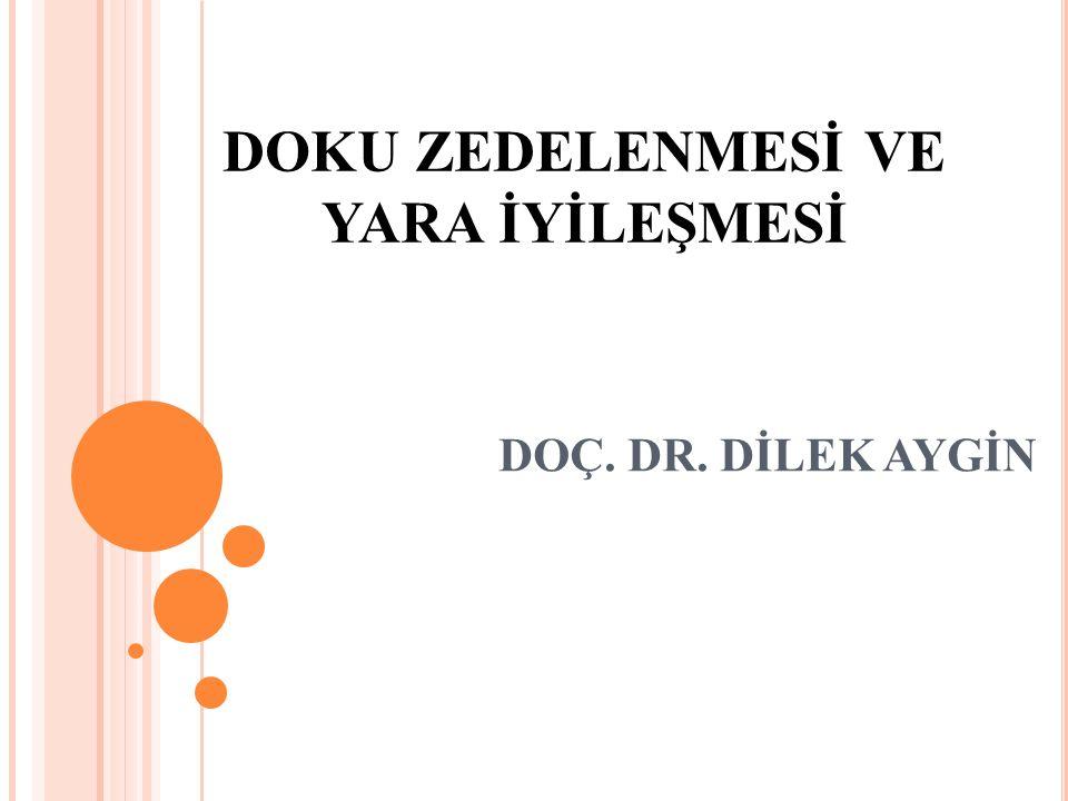 DOKU ZEDELENMESİ VE YARA İYİLEŞMESİ DOÇ. DR. DİLEK AYGİN