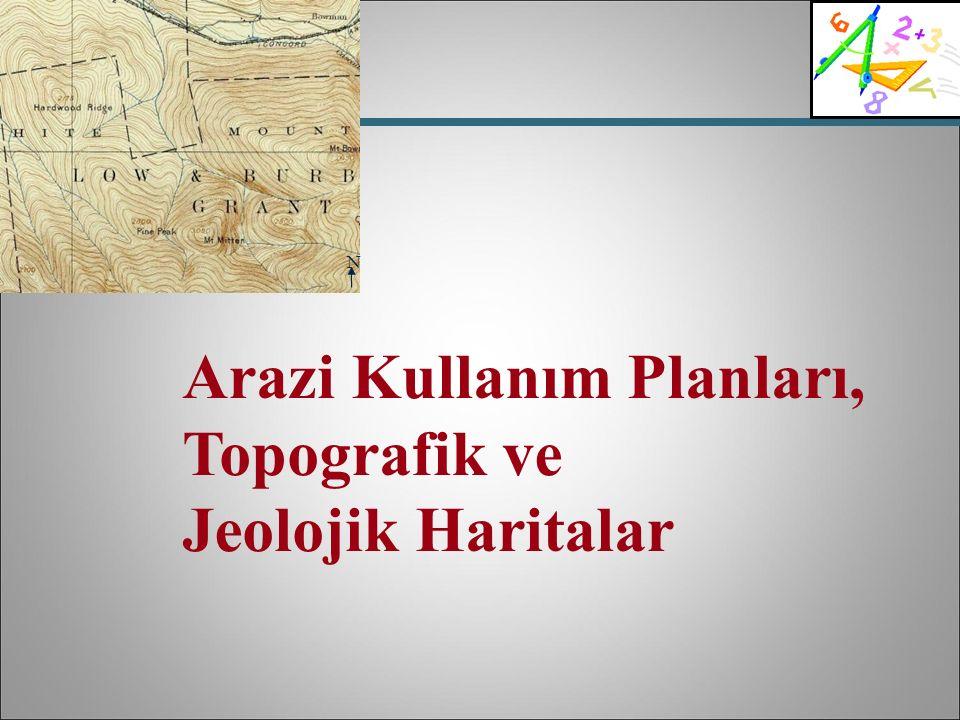 Arazi Kullanım Planları, Topografik ve Jeolojik Haritalar N