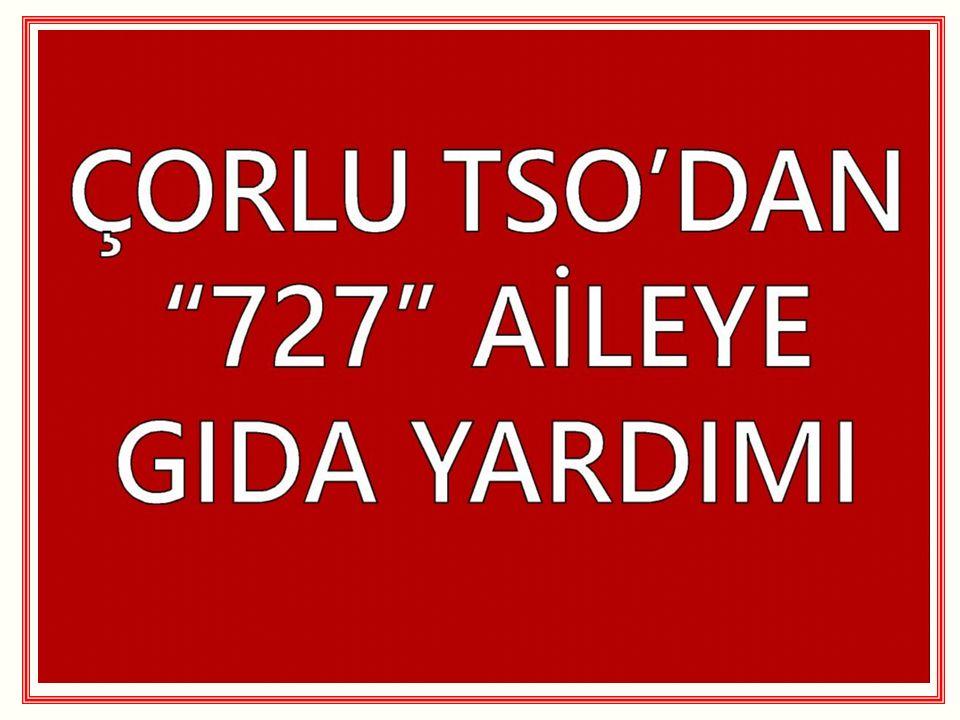 TÜRKİYE´NİN İKİNCİ 500 BÜYÜK SANAYİ KURULUŞU İÇİNDE ÇORLU TSO ÜYELERİ İstanbul Sanayi Odası (İSO) tarafından geleneksel hale gelen Türkiye nin birinci ve ikinci 500 Büyük Sanayi Kuruluşu araştırmasında Çorlu TSO üyesi 21 firma ilk 500 de, 23 firma ise ikinci 500 de olmak üzere 1000 Büyük Sanayi Kuruluşu listesinde Çorlu da faaliyet gösteren toplamda 44 adet sanayi kuruluşumuz listede yer almıştır.