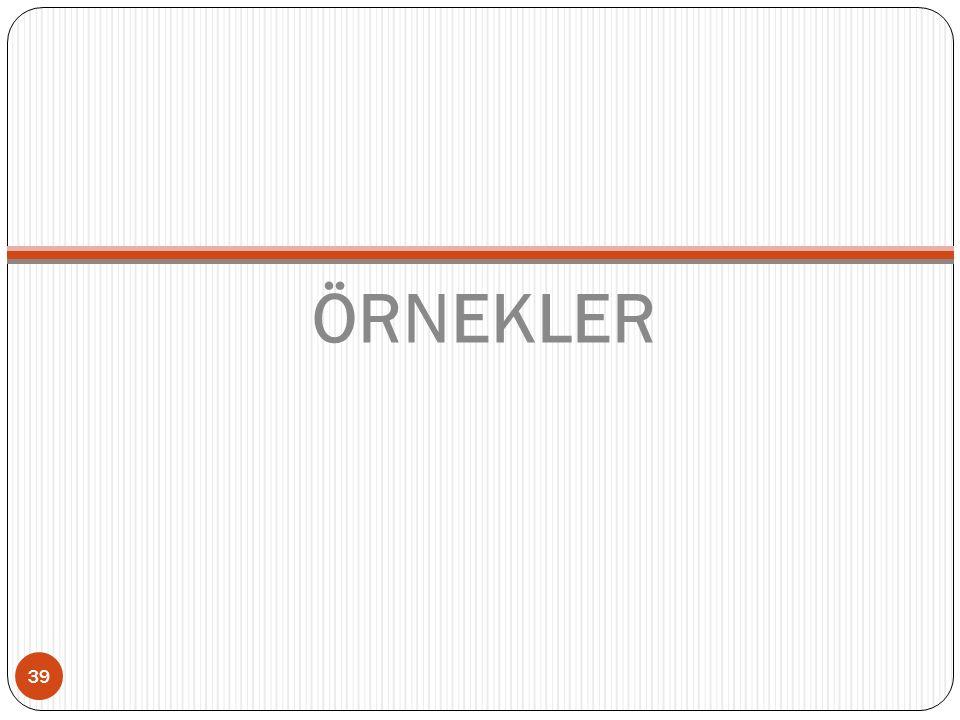 ÖRNEKLER 39