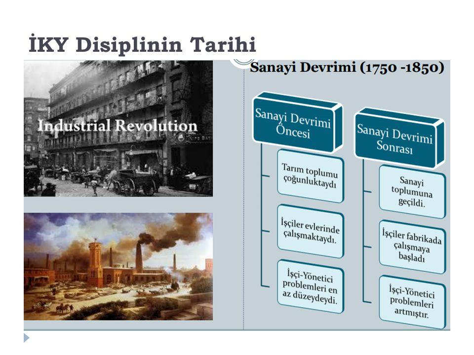 İKY Disiplinin Tarihi 14 İ KY'nin ortaya çıkmasında birçok etken yer almıştır.