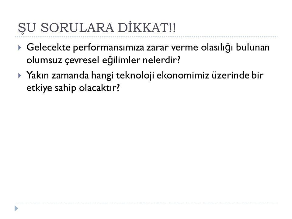 ŞU SORULARA DİKKAT!.
