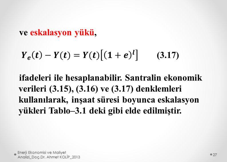 Enerji Ekonomisi ve Maliyet Analizi_Doç.Dr. Ahmet KOLİP_2013 27