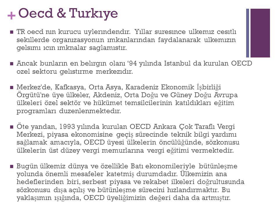 + Oecd & Turkıye TR oecd nın kurucu uylerındendır.