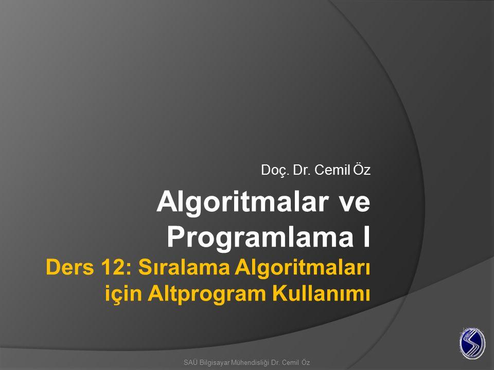 Hızlı sıralama (quick sort) algoritması En çok tercih edilen sıralama algoritmalarından biridir.