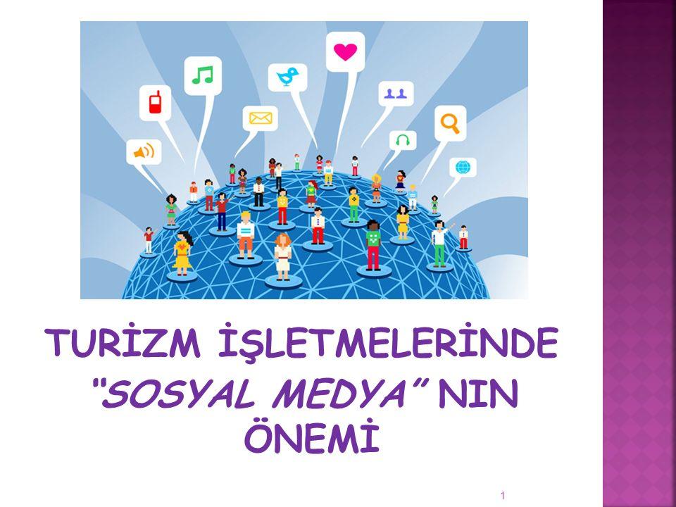 """1 TURİZM İŞLETMELERİNDE """"SOSYAL MEDYA"""" NIN ÖNEMİ"""
