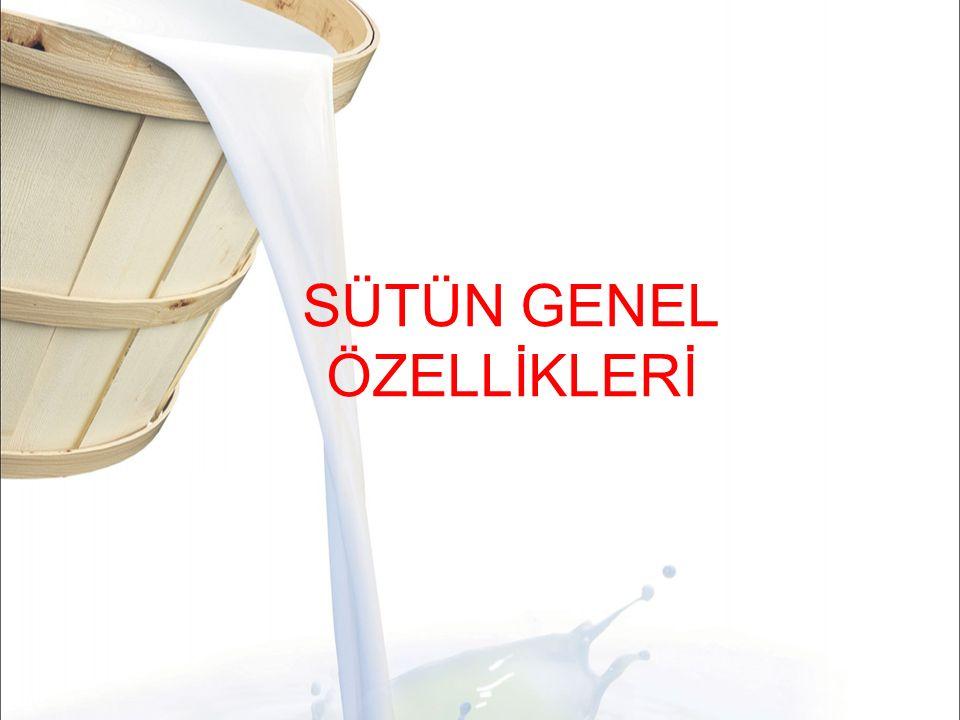 Süt Gazları  Sütte % 5-8 oranında oksijen, karbondioksit ve azot bulunur, kan yoluyla süte karışır  Miktar; sağım, işleme ve depolama koşullarına (çalkalama, soğutma, ısıtma, havalandırma) göre değişiklik gösterir.