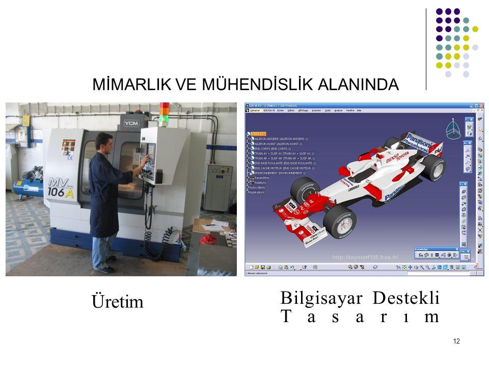 MİMARLIK VE MÜHENDİSLİK ALANINDA Üretim Bilgisayar Destekli Tasarım 12