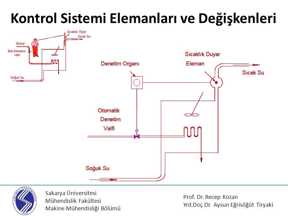 Sakarya Üniversitesi Mühendislik Fakültesi Makine Mühendisliği Bölümü Kontrol Sistemi Elemanları ve Değişkenleri Prof. Dr. Recep Kozan Yrd.Doç.Dr. Ays