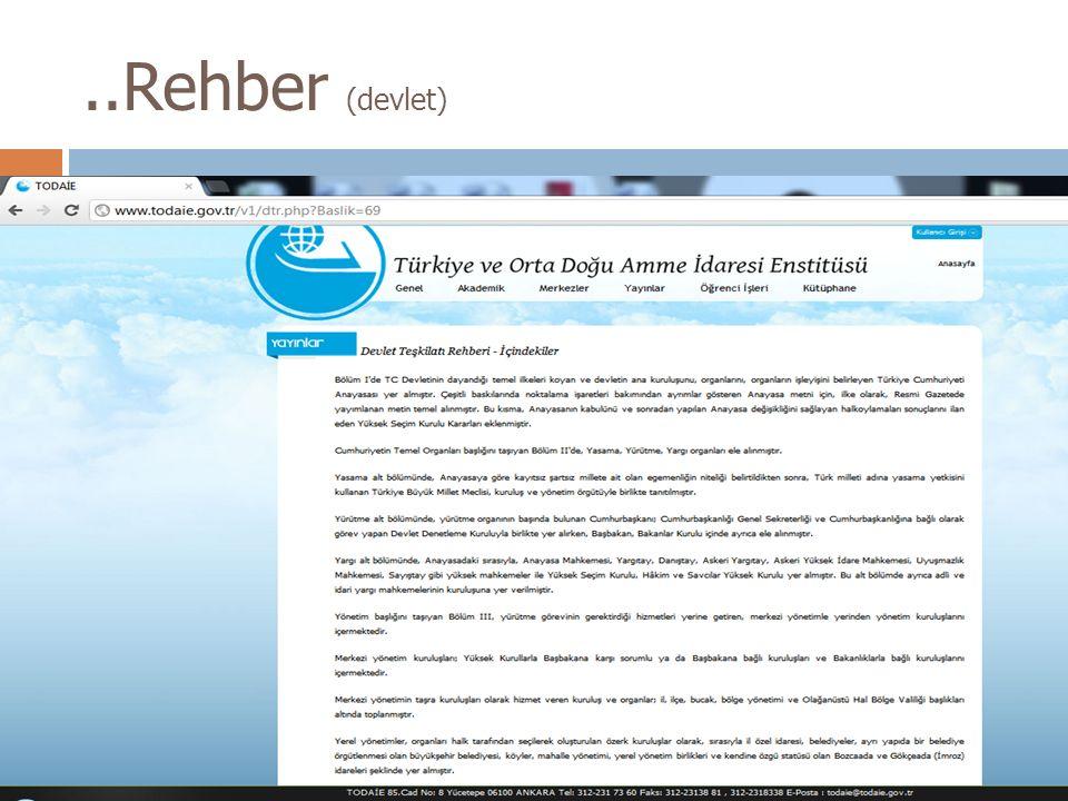 ..Rehber (akademik)  Research Centers Directory Research Centers Directory  Üniversitelere bağlı araştırma merkezleri hakkında bilgi verir.