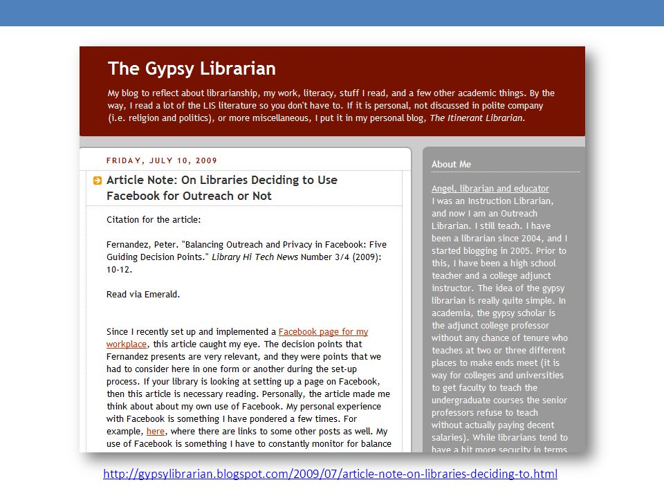http://gypsylibrarian.blogspot.com/2009/07/article-note-on-libraries-deciding-to.html