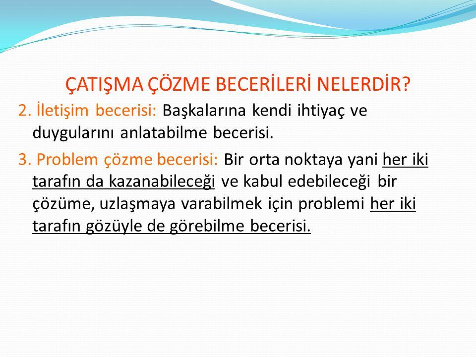 ÇATIŞMA ÇÖZME BECERİLERİ NELERDİR. 1.