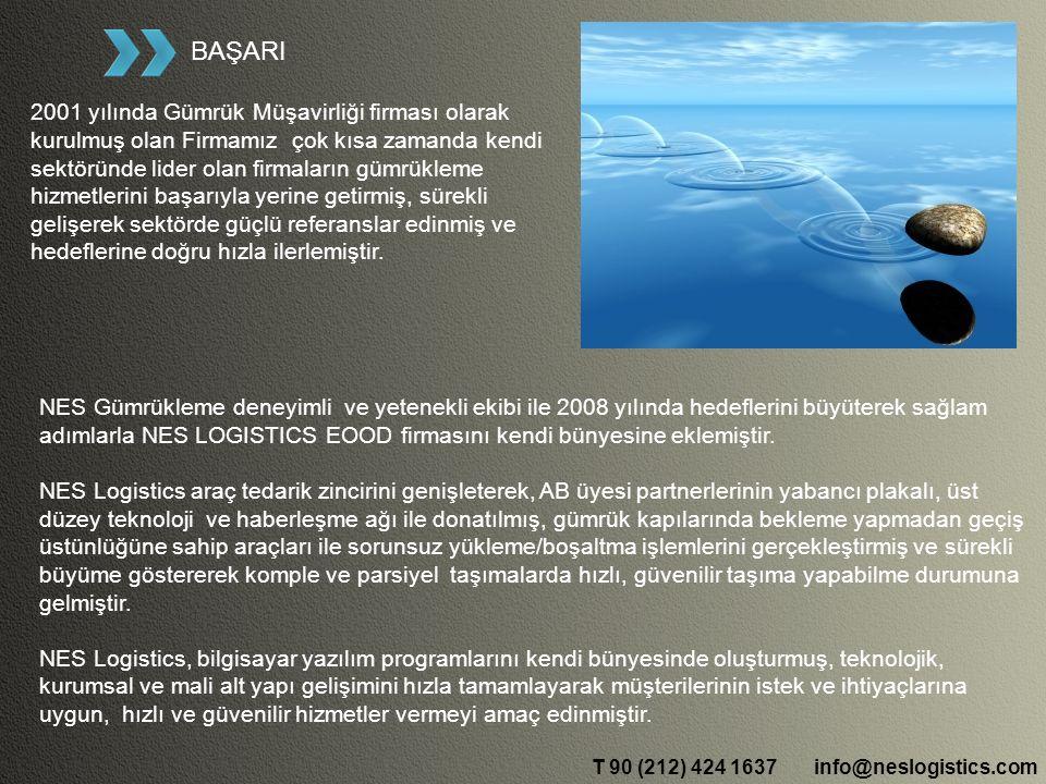 BAŞARI 2001 yılında Gümrük Müşavirliği firması olarak kurulmuş olan Firmamız çok kısa zamanda kendi sektöründe lider olan firmaların gümrükleme hizmetlerini başarıyla yerine getirmiş, sürekli gelişerek sektörde güçlü referanslar edinmiş ve hedeflerine doğru hızla ilerlemiştir.