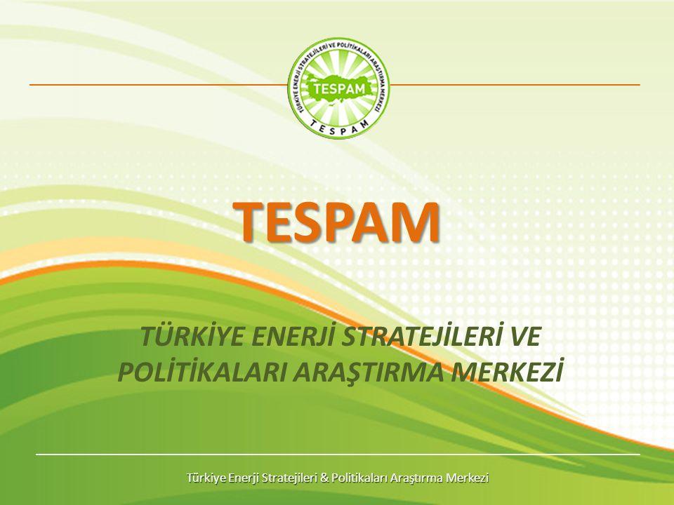Türkiye Enerji Stratejileri & Politikaları Araştırma Merkezi TESPAM TÜRKİYE ENERJİ STRATEJİLERİ VE POLİTİKALARI ARAŞTIRMA MERKEZİ