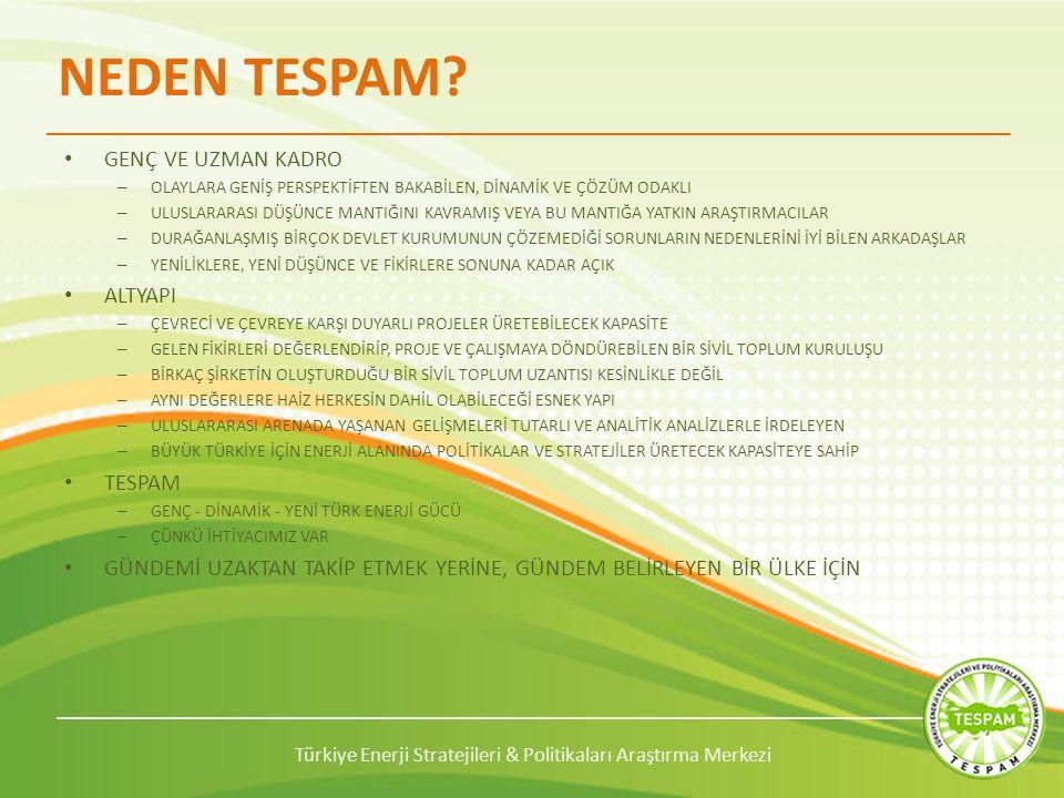 Türkiye Enerji Stratejileri & Politikaları Araştırma Merkezi NEDEN TESPAM.