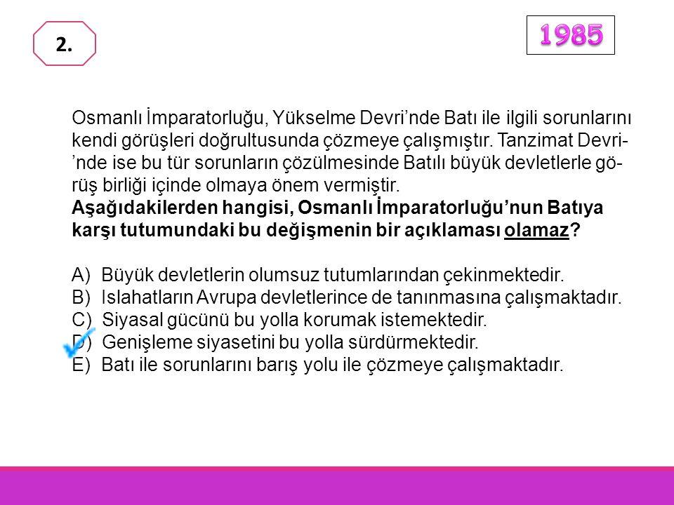Kırım Savaşı'nı kazanan devletlerden biri olarak Paris Antlaşması na katılan Osmanlı Devleti'nin, bu antlaşmanın aşağıda verilen maddelerden hangisiyle yenilmiş bir devlet durumuna düşürüldüğü anlaşılmaktadır.