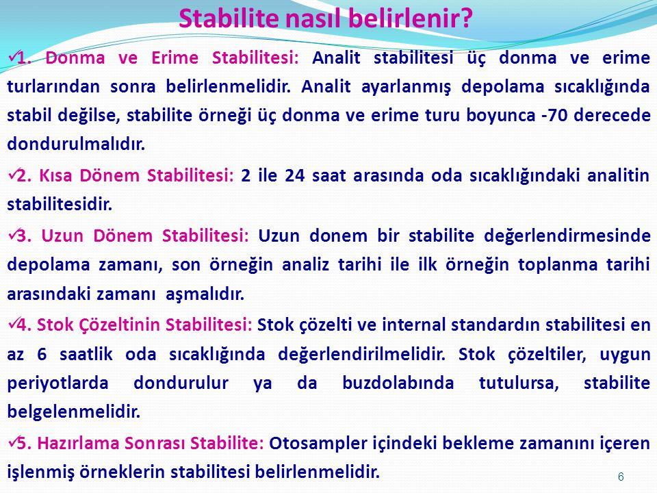 Stabilite nasıl belirlenir.1.