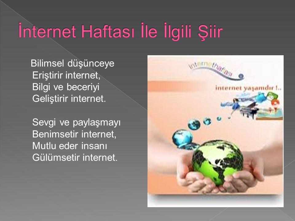  Bilişim STK Platformu İnternetin Türkiye ye gelişinin yıl dönümünde Türkiye İnternetini büyütmek, yeni projeler başlatmak, İnterneti geniş kitlelere tanıtmak, yaymak, toplumun gündemine İnterneti yerleştirmek ve Türkiye İnternetine ivme verecek etkinliklerin yapılması amacıyla 6-21 Nisan ı İnternet Haftası olarak ilan etmiştir.
