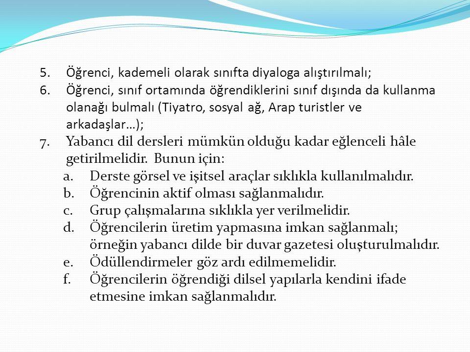 Arapça Öğrenimini Engelleyen Sebepler 1.Öğrencinin ve öğretmenin yabancı dile karşı isteksiz olması.
