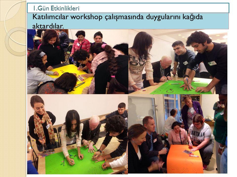 Katılımcılar workshop çalışmasında duygularını ka ğ ıda aktardılar.