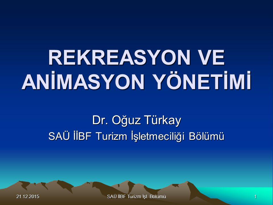 21.12.2015SAÜ İİBF Turizm İşl.Bölümü2 Turizm Nedir.