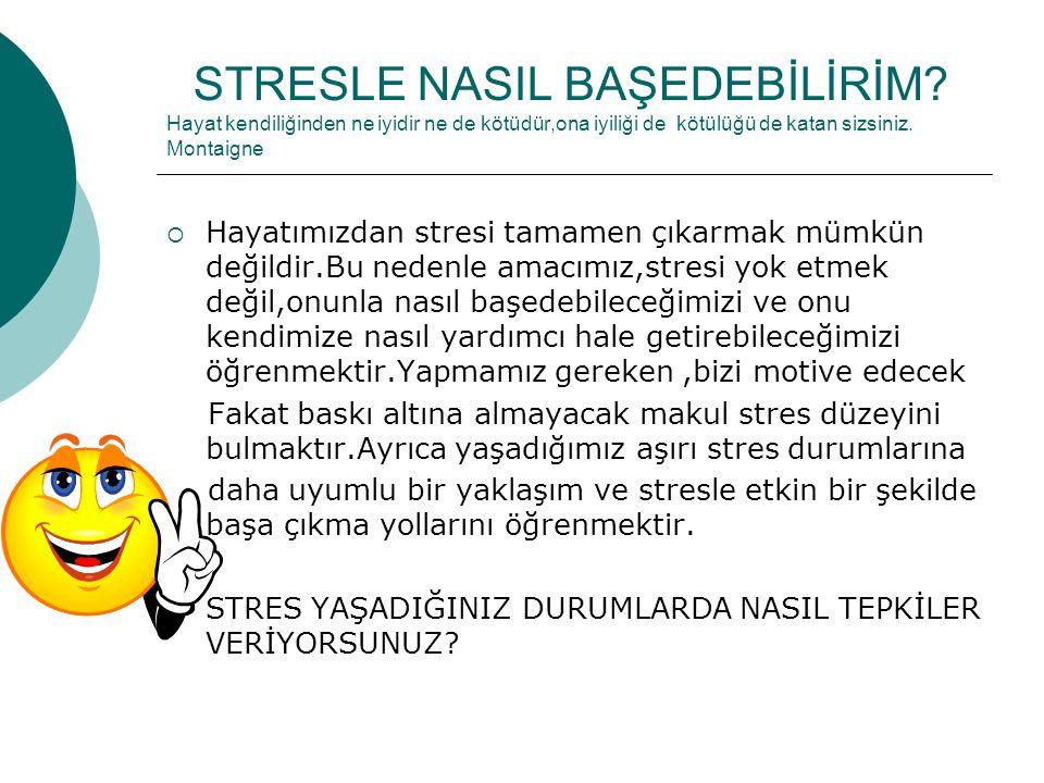 STRESLE NASIL BAŞEDEBİLİRİM.