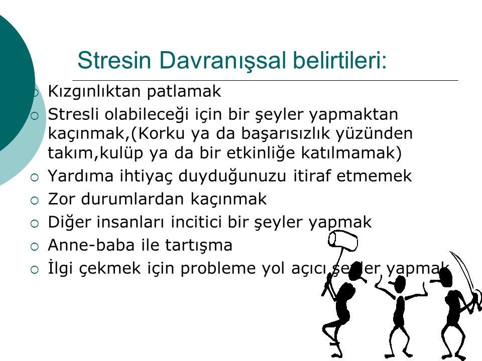 Stres miktarı ne kadar olmalıdır.