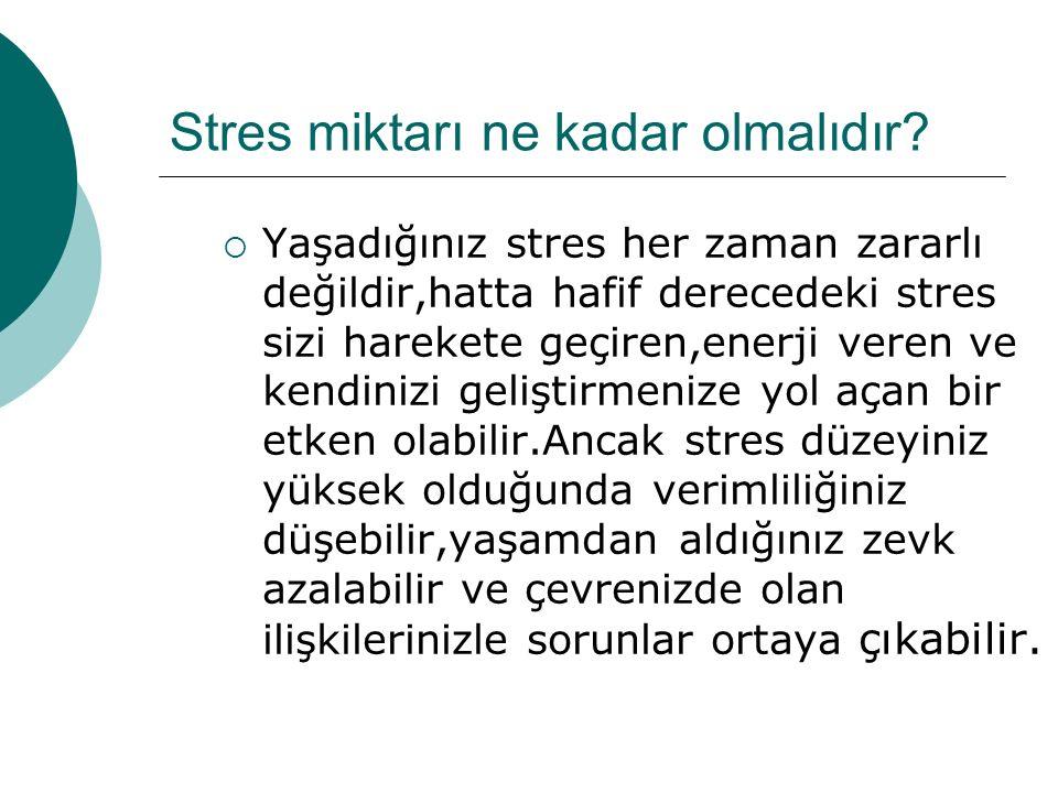 Stresi stres yapan nedir.Öyle horozlar vardır ki,öttükleri için güneşin doğduğunu sanırlar.