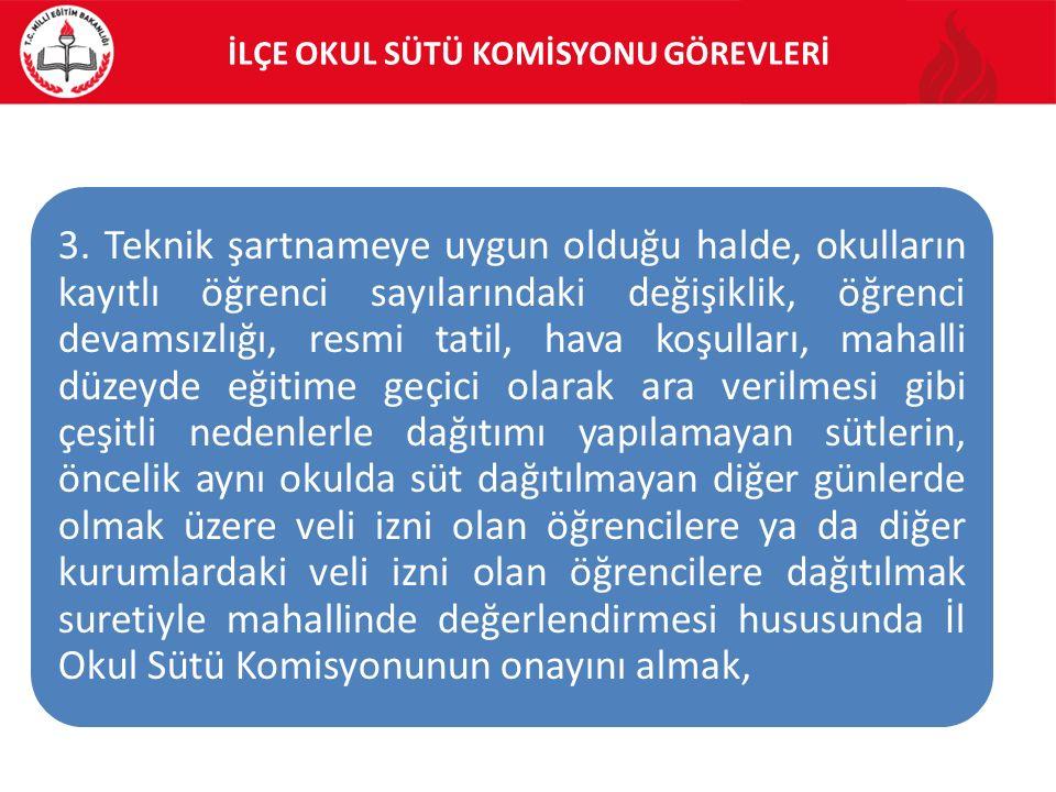 İLÇE OKUL SÜTÜ KOMİSYONU GÖREVLERİ 3.