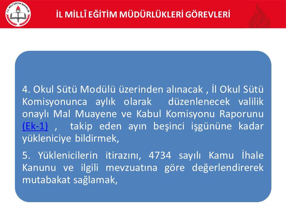 İL MİLLÎ EĞİTİM MÜDÜRLÜKLERİ GÖREVLERİ 4.