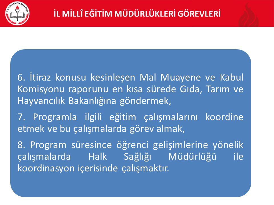 İL MİLLÎ EĞİTİM MÜDÜRLÜKLERİ GÖREVLERİ 6.