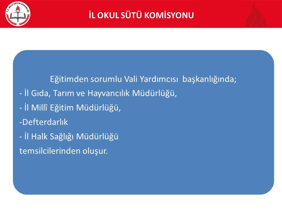 OKUL SÜTÜ KABUL KOMİSYONLARININ GÖREVLERİ 5.