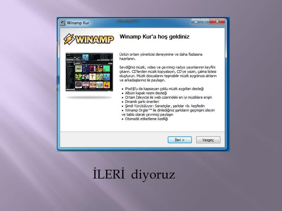 Bu ekran size GOM Player'ı nereye kurmak istediğinizi belirtilir.