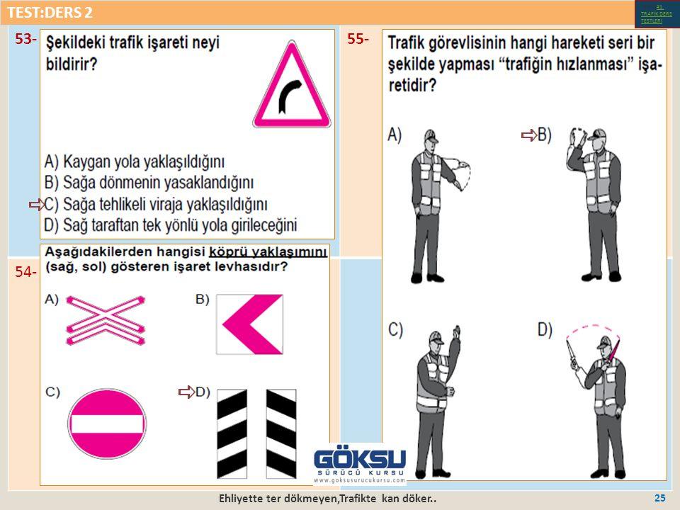Ehliyette ter dökmeyen,Trafikte kan döker.. 25 53-55- 54- TEST:DERS 2 Test-1-#1.
