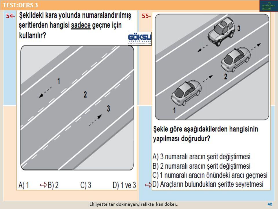 Ehliyette ter dökmeyen,Trafikte kan döker.. 48 54-55- TEST:DERS 3 Test-1-#1.