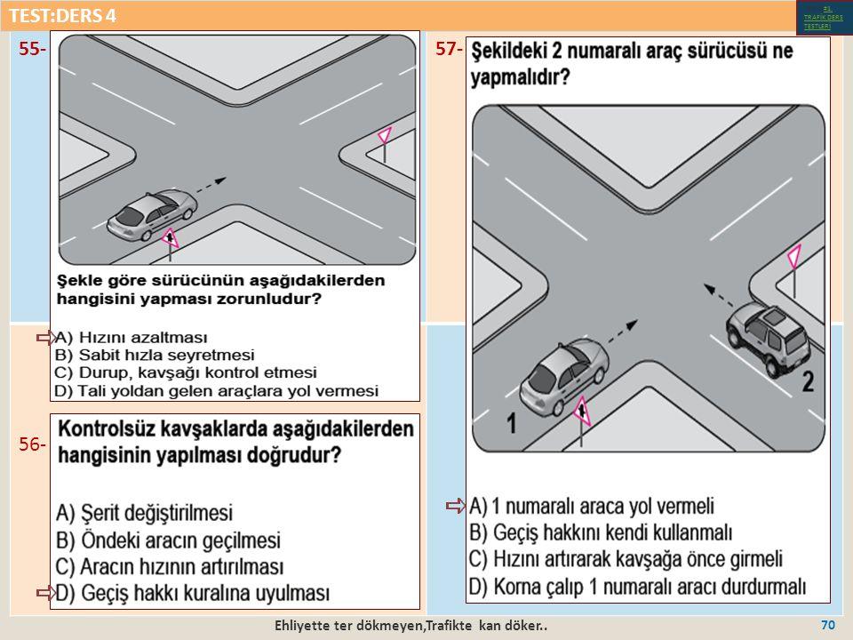 Ehliyette ter dökmeyen,Trafikte kan döker.. 70 55-57- 56- TEST:DERS 4 Test-1-#1.