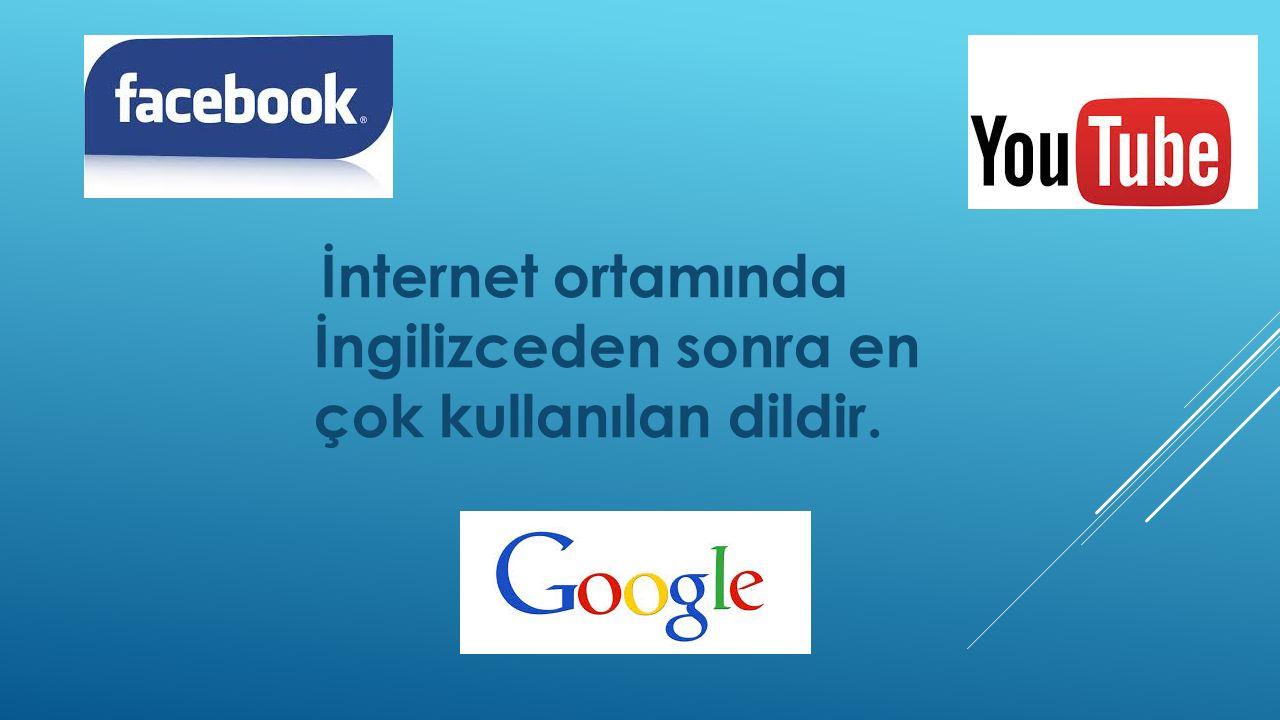 İnternet ortamında İngilizceden sonra en çok kullanılan dildir.