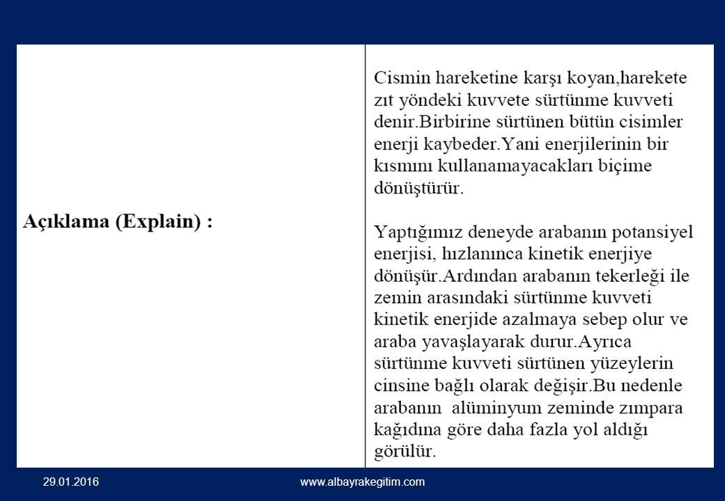 29.01.2016 www.albayrakegitim.com Kinetik