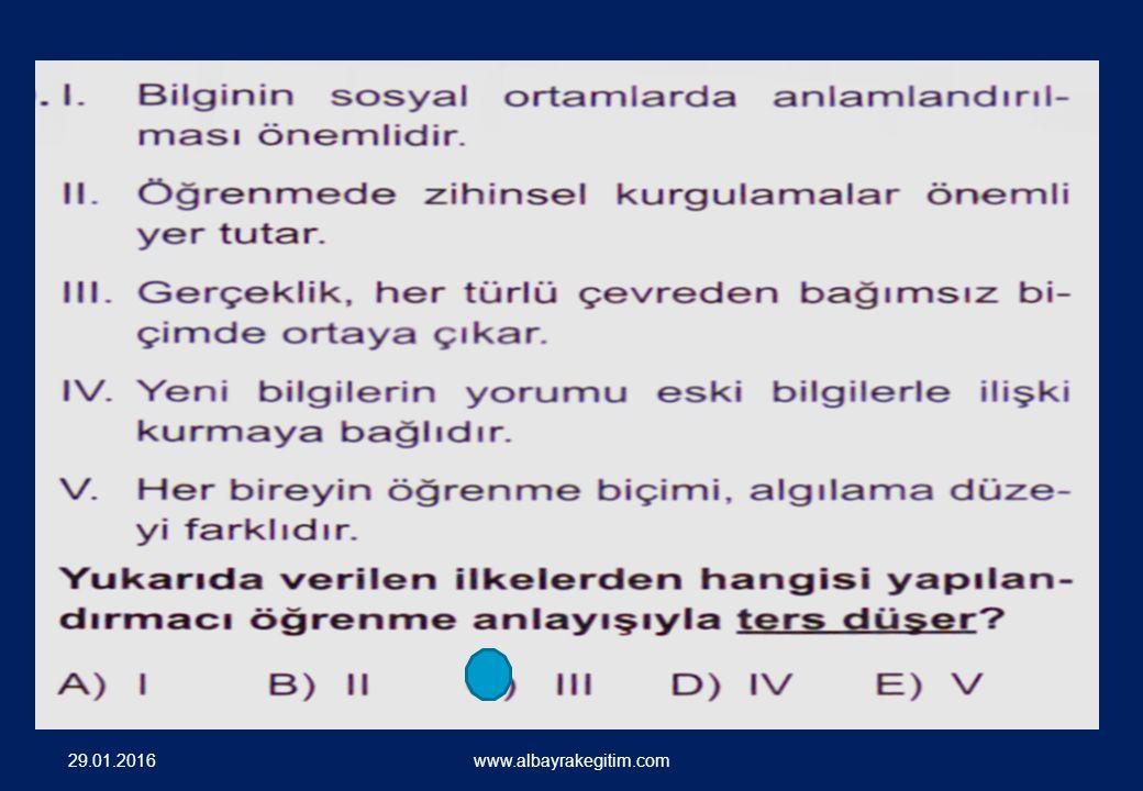 SORU ÖRNEKLERİ 29.01.2016 www.albayrakegitim.com