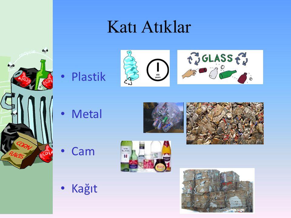 Plastik Metal Cam Kağıt Katı Atıklar