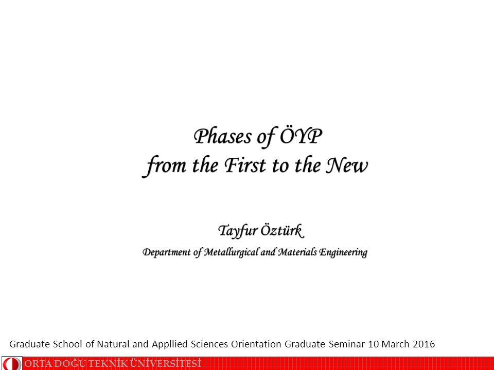 Özet Bu sunu, Fen Bilimleri Enstitüsü'nce ÖYP öğrencileri için sürdürülmekte olan seminer programı çerçevesinde hazırlanmıştır.