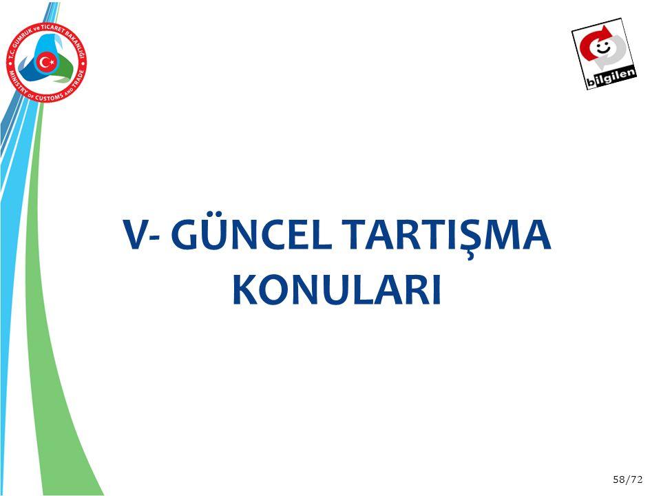 58/72 V- GÜNCEL TARTIŞMA KONULARI