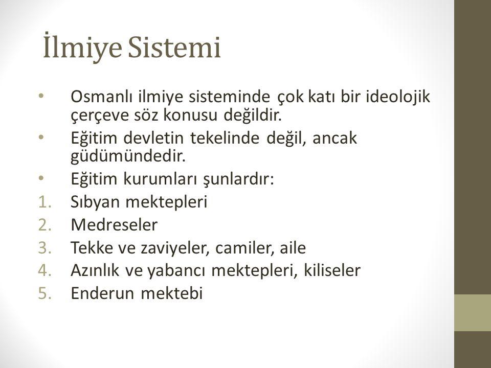 Klasik Osmanlı Medrese Düzeni Medreselerin kesin süreleri yoktur, amaç kitap bitirmektir.