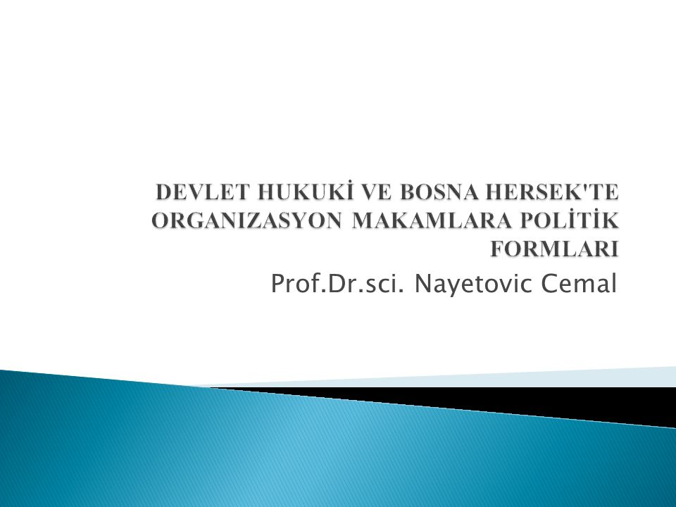 Prof.Dr.sci. Nayetovic Cemal