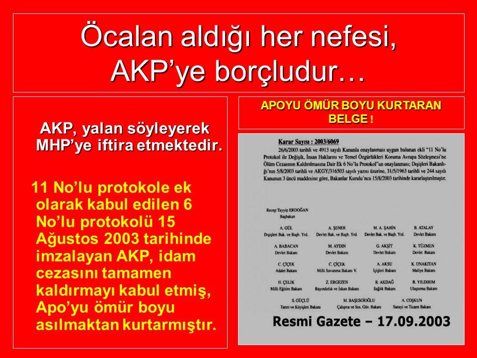 Öcalan aldığı her nefesi, AKP'ye borçludur… AKP, yalan söyleyerek MHP'ye iftira etmektedir. AKP, yalan söyleyerek MHP'ye iftira etmektedir. 11 No'lu p
