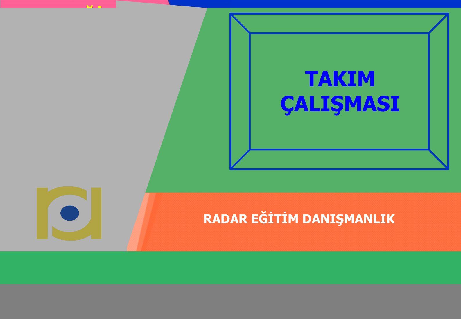 radardanismanlik.com.tr 1 RADAR EĞİTİM DANIŞMANLIK radardanismanlik.com.tr EĞİTİMDE KALİTE RADAR EĞİTİM DANIŞMANLIK TAKIM ÇALIŞMASI