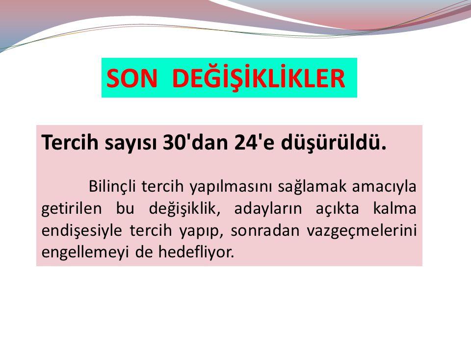 YGS - LYS KARŞILAŞTIRMA Hacettepe Ü.Tıp 2.121 10.511 13.456 İstanbul Ü.