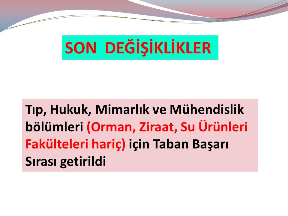 YGS - LYS KARŞILAŞTIRMA İstanbul Ü.TDE 130.399 ÜNİVERSİTEBaşarı S.