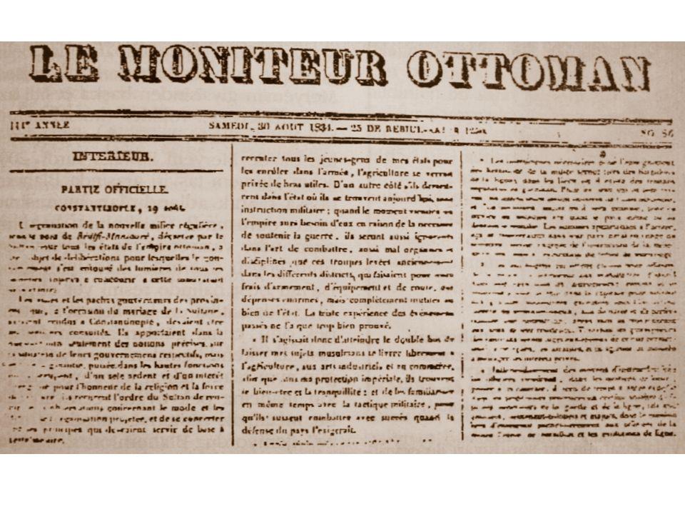 Takvim-i Vekayi Sultan Mahmud'un 1247 (1831) tarihinde bir gazetenin kurulması ile ilgili verdiği emir şöyleydi: … Bir gazete çıkarmak uzun yıllardır benim idealimdi.